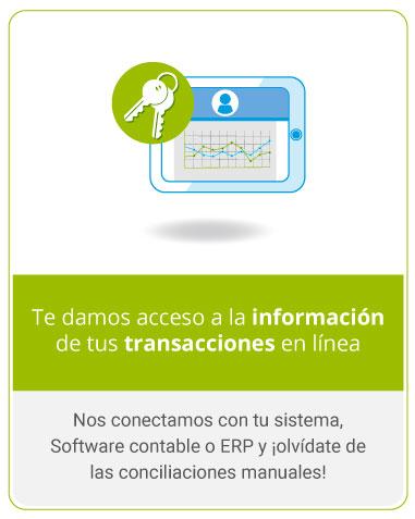 Te damos acceso a la información de tus transacciones en línea